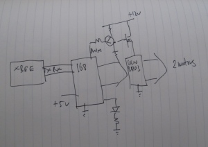 Schematic idea for the polargraph energy monitor