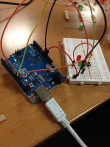 Arduino and breadboard