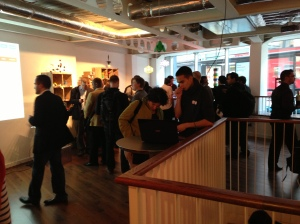 The crowd at the iMakr store launch
